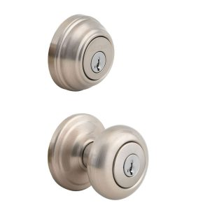 Kwikset 991 Juno Entry Knob and Single Cylinder Deadbolt Combo Pack