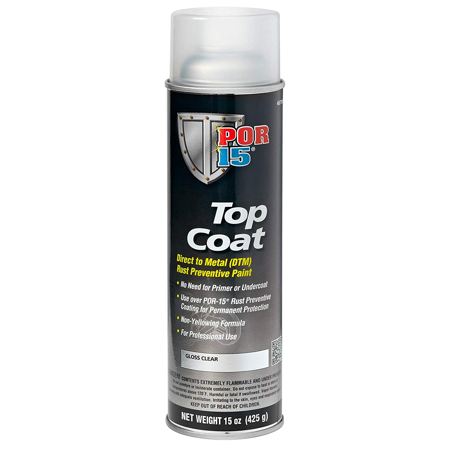 POR-15 45718 Top Coat Gloss Clear Spray Paint