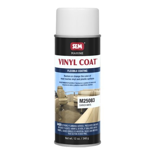 SEM M25083 Carver White Marine Vinyl Coat - 12 oz