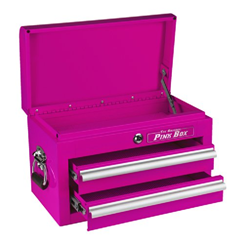 The Original Pink Box PB218MC 18-Inch 2-Drawer 18G Steel Mini Storage Chest